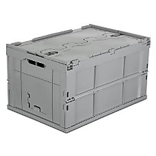 Mount It Collapsible Plastic Storage Crate