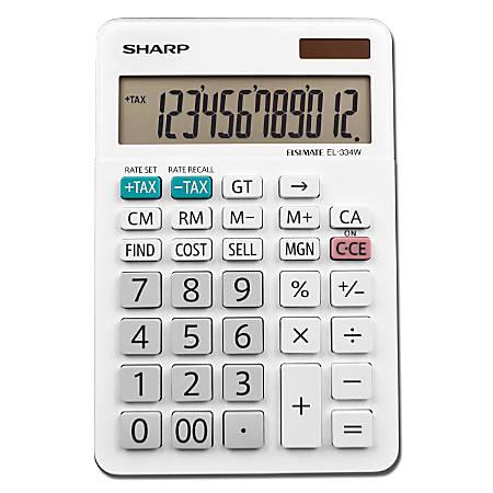 Sharp® White Series Desktop Calculator, EL-334WB
