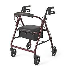 Guardian Basic Rollator 6 Wheels Burgundy