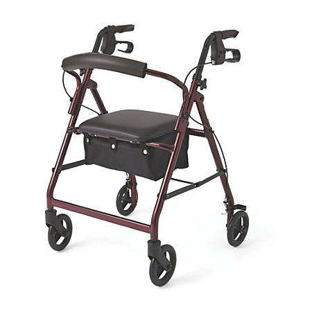 "Guardian Basic Rollator, 6"" Wheels, Burgundy"