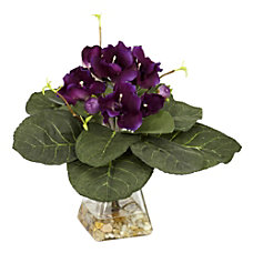 Nearly Natural 12 H Silk Gloxinia