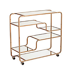 Southern Enterprises Maylynn Mirrored Bar Cart