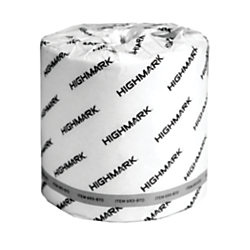 Highmark® 2-Ply Bathroom Tissue, 100% Recycled, White, 550 Sheets Per Roll, Case Of 80 Rolls