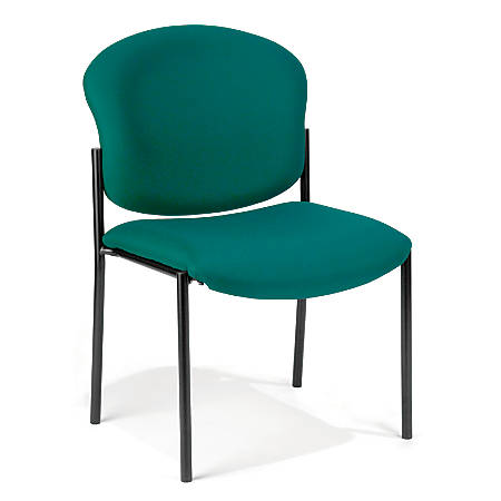 OFM Manor Series Guest Reception Chair, Teal/Black