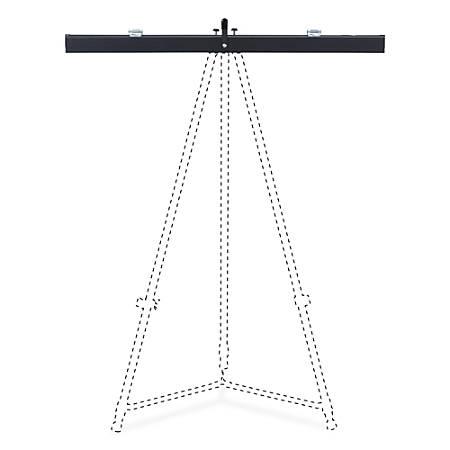 "Lorell Telescoping Easel Pad Holder - 27.9"" Length - Aluminum - Black"