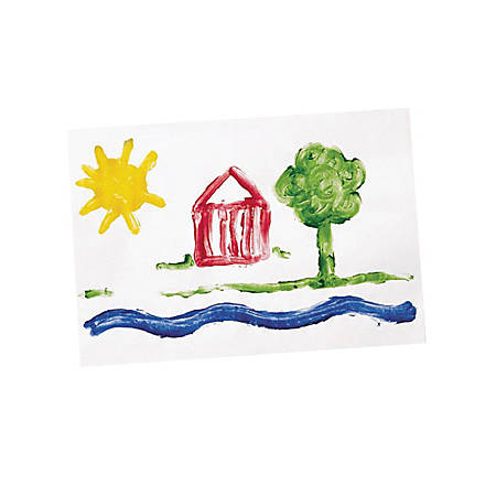 """Pacon Gloss Coat Fingerpaint Paper - Plain - 22"""" x 16"""" - White Paper - Non Absorbant, Resist Bleed-through - Recycled - 100 / Pack"""