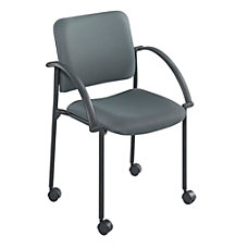 Safco Moto Mobile Stack Chairs Charcoal