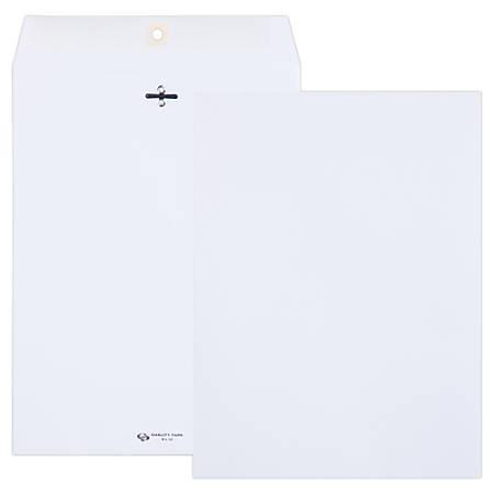 "Quality Park® Clasp Envelopes, #90, 9"" x 12"", White, Box Of 100"
