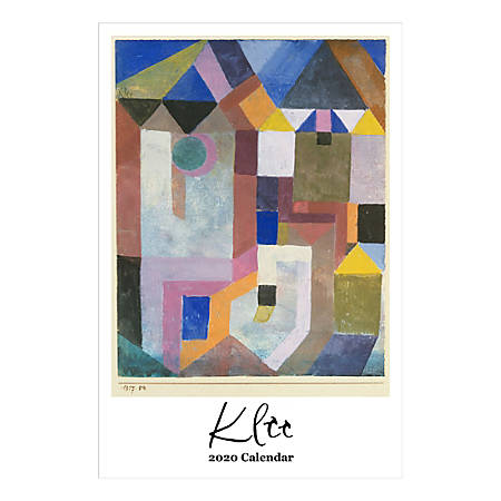 "Retrospect Paul Klee Monthly Wall Calendar, 19"" X 12-1/2"", January To December 2020, YC 002-20"