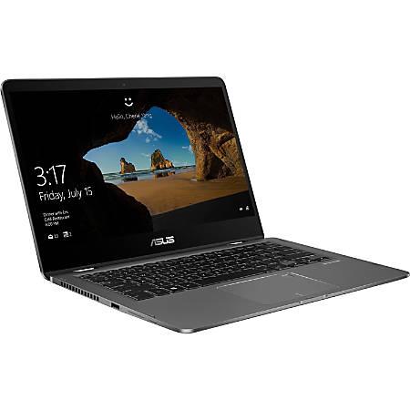 "Asus ZenBook Flip 14 UX461FA-DH51T 14"" Touchscreen Notebook - 1920 x 1080 - Core i5 i5-8265U - 8 GB RAM - 256 GB SSD - Metallic Gray - Windows 10 64-bit - Intel UHD Graphics 620 - TruVivid Technology, Tru2Life - Bluetooth - 13.50 Hour Battery Run Time"