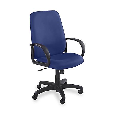 Safco® Poise™ High-Back Chair, Black Frame, Blue Fabric
