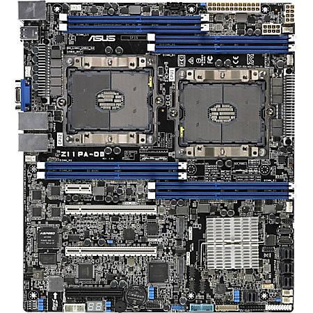 Asus Z11PA-D8 Server Motherboard - Intel Chipset - Socket P LGA-3647 - 2 TB DDR4 SDRAM Maximum RAM - LRDIMM, RDIMM, DIMM - 8 x Memory Slots - Gigabit Ethernet - 4 x USB 3.0 Port