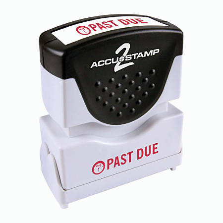 """Accu-Stamp2® Pre-Ink Message Stamp, """"Past Due"""", Red"""