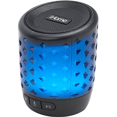 iHome iBT81B Portable Bluetooth Smart Speaker - Siri, Google Assistant Supported - Battery Rechargeable
