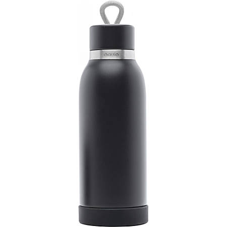 iHome Aquio iBTB2 Water Bottle - 16 fl oz - Midnight - Stainless Steel
