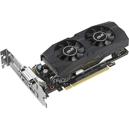 Asus GTX1050TI-O4G-LP-BRK GeForce GTX 1050 Ti Graphic Card - 1.33 GHz Core - 1.44 GHz Boost Clock - 4 GB GDDR5 - Low-profile - Dual Slot Space Required - 128 bit Bus Width - Fan Cooler - OpenGL 4.5 - 1 x DisplayPort - 1 x HDMI - 1 x Total Number of DVI