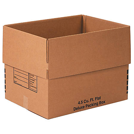 """Office Depot® Brand Deluxe Moving Boxes, 24"""" x 18"""" x 18"""", Kraft, Pack Of 10"""