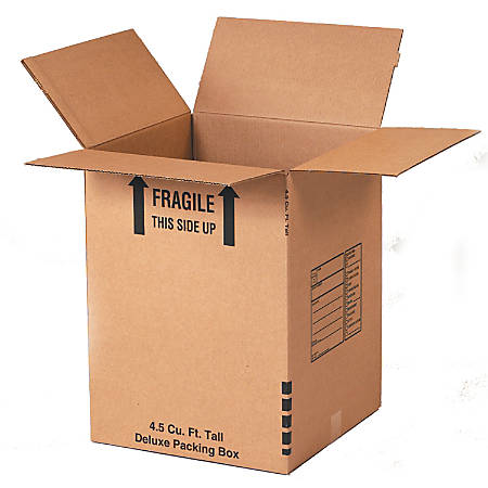 "Office Depot® Brand Deluxe Moving Boxes, 18"" x 18"" x 24"", Kraft, Pack Of 15"