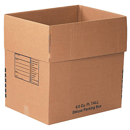 """Office Depot® Brand Deluxe Moving Boxes, 24"""" x 18"""" x 24"""", Kraft, Pack Of 10"""