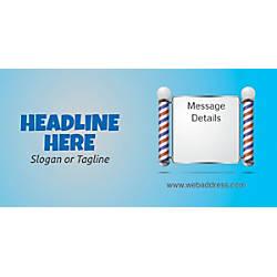 Custom Horizontal Banner Salon Pole