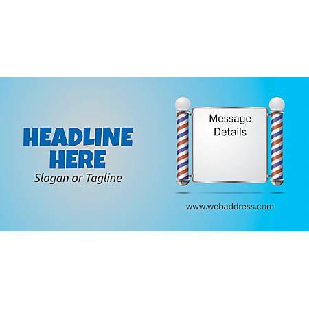 Custom Horizontal Banner, Salon Pole