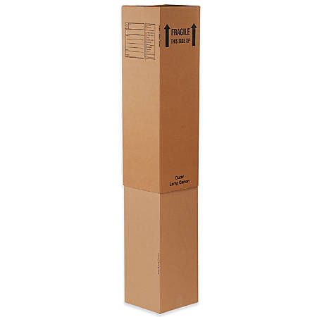 """Office Depot® Brand Printed Inner Lamp Moving Boxes, 12"""" x 12"""" x 46"""", Kraft Pack Of 15"""