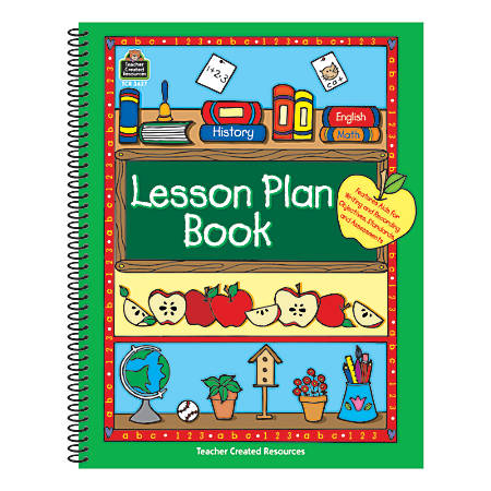 Teacher Created Resources Green Border Lesson Plan Books, Pack Of 3