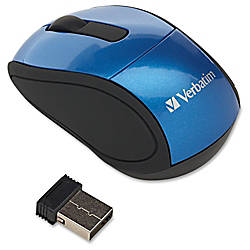 Verbatim Wireless Mini Travel Mouse Blue