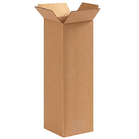 """Office Depot® Brand Tall Boxes, 4"""" x 4"""" x 12"""", Kraft, Pack Of 25"""