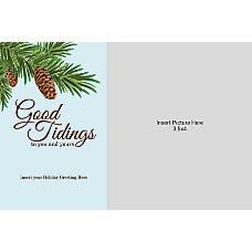Photo Greeting Card Good Tidings Pinecone