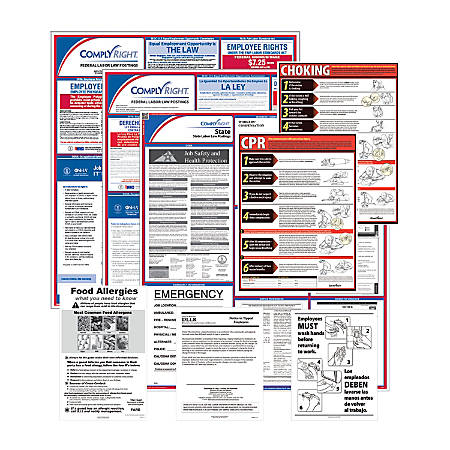 ComplyRight Federal, State And Restaurant Poster Subscription Service, Bilingual/English, Michigan