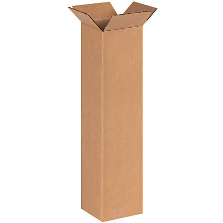 """Office Depot® Brand Tall Boxes, 6"""" x 6"""" x 24"""", Kraft, Pack Of 25"""