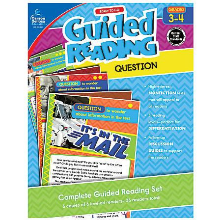 Carson-Dellosa Ready-To-Go Guided Reading, Question, Grades 3 - 4