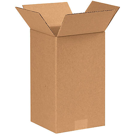 "Office Depot® Brand Tall Boxes, 7"" x 7"" x 12"", Kraft, Pack Of 25"