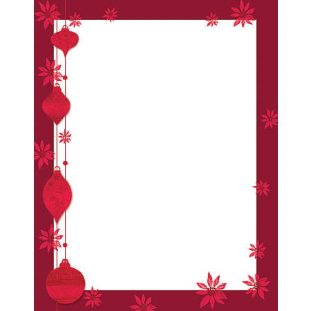 "Great Papers!® Holiday-Themed Letterhead Paper, 8 1/2"" x 11"", Painted Poinsettia, Pack Of 80 Sheets"