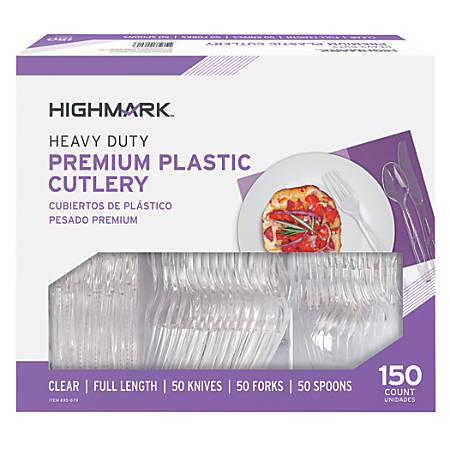 Highmark® Heavy Duty Premium Plastic Cutlery, Pack of 150