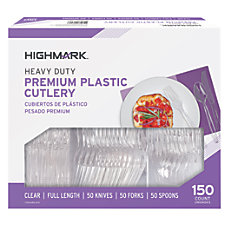 Highmark Heavy Duty Premium Plastic Cutlery