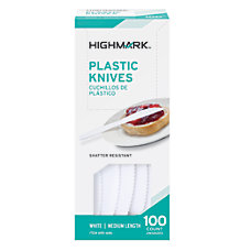 Highmark Medium Length Plastic Cutlery Knives