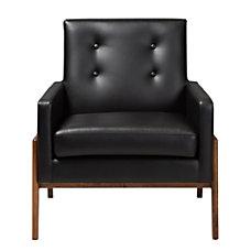 Baxton Studio Franz Faux Leather Lounge
