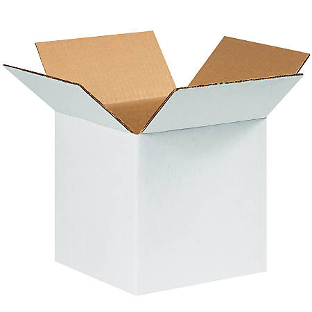 "Office Depot® Brand White Corrugated Cartons, 8"" x 8"" x 8"", Pack Of 25"
