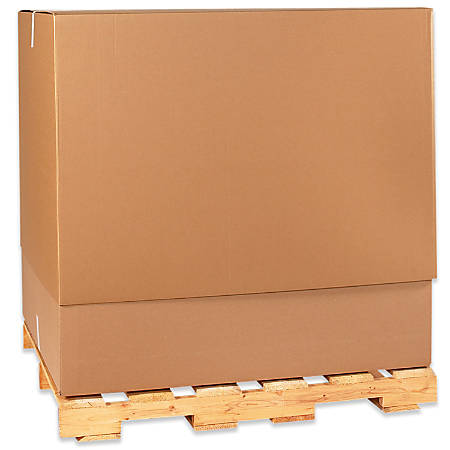 """Office Depot® Brand Telescoping Corrugated Cartons, Top, 47 3/4"""" x 40"""" x 34"""", Pack Of 5"""