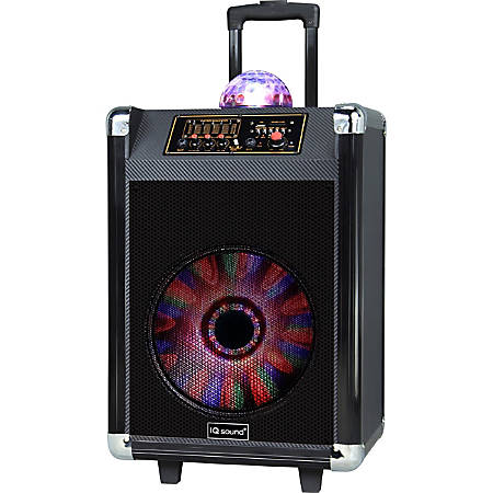 Supersonic Speaker System - 30 W RMS - Wireless Speaker(s) - Portable - Battery Rechargeable - Black