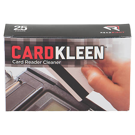 """Read/Right CardKleen Magnetic Head Cleaner, 2.5"""" x 5.3"""", Box Of 25"""