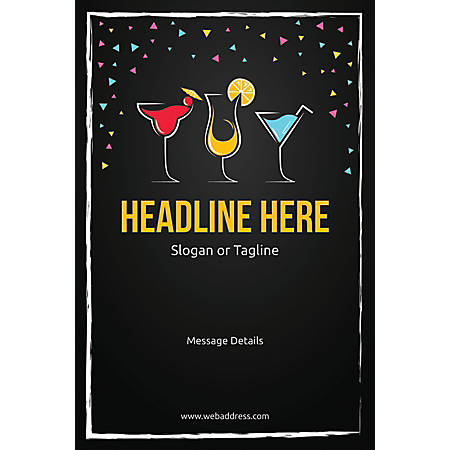 Custom Poster, Cocktail Party, Vertical