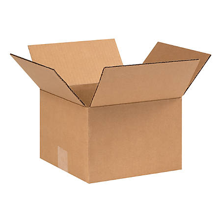 """Office Depot® Brand Corrugated Boxes, 9""""L x 9""""W x 6""""H, Kraft, Pack Of 25"""