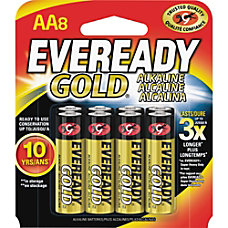 Eveready Gold 8 pack AA Batteries