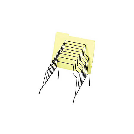 """Fellowes Wire Step File® - 8 Compartment(s) - Drawer Size 8.50"""" x 14"""" - 11.8"""" Height x 10.1"""" Width x 12.1"""" Depth - Desktop - Black - Steel - 1Each"""