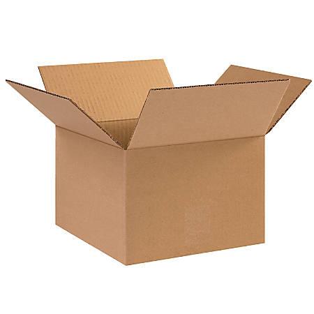 "Office Depot® Brand Corrugated Cartons, 10"" x 10"" x 7"", Kraft, Pack Of 25"