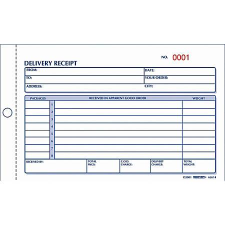 Rediform® Delivery Receipt Book, 2-Part