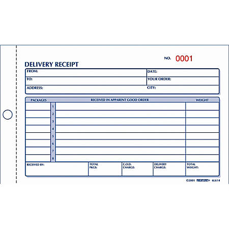 Rediform Delivery Receipt Book 2 Part by Office Depot OfficeMax – Delivery Receipt